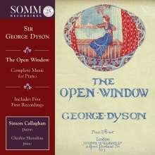 """George Dyson (1883-1964): Sämtliche Klavierwerke - """"The Open Window"""", 2 CDs"""