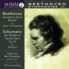Ludwig van Beethoven (1770-1827): Symphonien für Klavier 4-händig Vol.1, CD