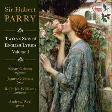 Hubert Parry (1848-1918): Twelve Sets of English Lyric Vol.1, CD