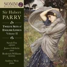 Hubert Parry (1848-1918): Twelve Sets of English Lyrics Vol.2, CD