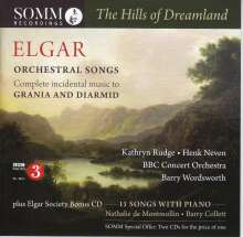 "Edward Elgar (1857-1934): Orchesterlieder ""The Hills of Dreamland"", 2 CDs"