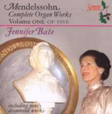 Felix Mendelssohn Bartholdy (1809-1847): Orgelwerke Vol.1, CD