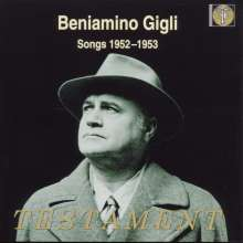 Benjamino Gigli - Songs 1952/53, CD