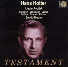 Hans Hotter - Lieder Recital, CD