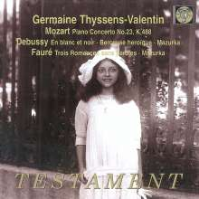 Germaine Thyssens-Valentin,Klavier, CD