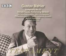 Gustav Mahler (1860-1911): Symphonie Nr.10, 3 CDs