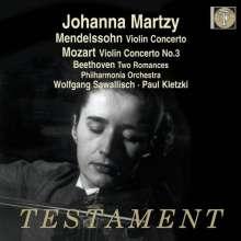 Johanna Martzy spielt Violinkonzerte, CD