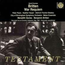 Benjamin Britten (1913-1976): War Requiem op.66 (Uraufführung), CD