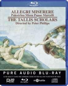 Gregorio Allegri (1582-1652): Miserere, Blu-ray Audio