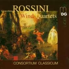 Gioacchino Rossini (1792-1868): Quartette für Flöte, Klarinette, Horn, Fagott Nr. 1-6, CD