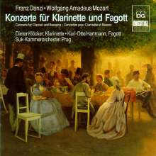 Franz Danzi (1763-1826): Sinfonia concertante für Klarinette & Fagott in B, CD
