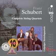 Franz Schubert (1797-1828): Sämtliche Streichquartette, 9 CDs