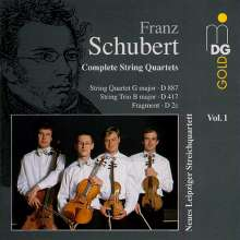 Franz Schubert (1797-1828): Sämtliche Streichquartette Vol.1, CD