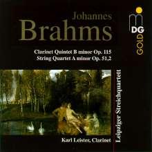 Johannes Brahms (1833-1897): Klarinettenquintett op.115, CD