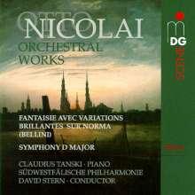 Otto Nicolai (1810-1849): Orchesterwerke Vol.1, CD