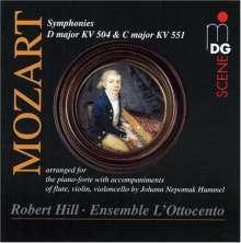 Wolfgang Amadeus Mozart (1756-1791): Symphonien Nr.38 & 41 f.Klavier,Flöte,Violine,Cello, CD