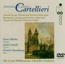 Antonio Casimir Cartellieri (1772-1807): Konzert für 2 Klarinetten & Orchester in B, DVD-Audio