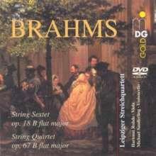 Johannes Brahms (1833-1897): Streichsextett Nr.1 op.18, DVD-Audio