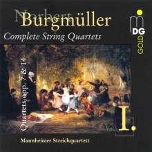Norbert Burgmüller (1810-1836): Sämtliche Streichquartette Vol.1, CD