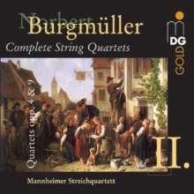 Norbert Burgmüller (1810-1836): Sämtliche Streichquartette Vol.2, CD