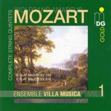 Wolfgang Amadeus Mozart (1756-1791): Sämtliche Streichquintette Vol.1, CD