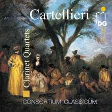 Antonio Casimir Cartellieri (1772-1807): Klarinettenquartette Nr.1,2,4, CD