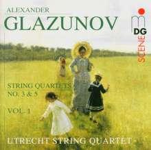 Alexander Glasunow (1865-1936): Streichquartette Vol.1, CD