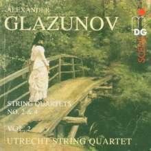 Alexander Glasunow (1865-1936): Streichquartette Vol.2, CD