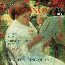 Alexander Glasunow (1865-1936): Streichquartette Vol.3, CD