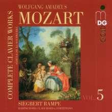 Wolfgang Amadeus Mozart (1756-1791): Sämtliche Klavierwerke Vol.5, CD