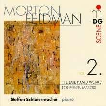 Morton Feldman (1926-1987): Die späten Klavierwerke Vol.2, CD