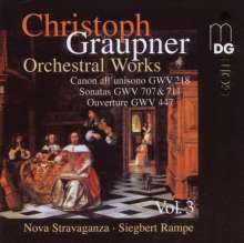 Christoph Graupner (1683-1760): Orchesterwerke Vol.3, CD