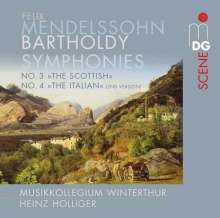 Felix Mendelssohn Bartholdy (1809-1847): Symphonien Nr.3 & 4, Super Audio CD