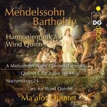 Felix Mendelssohn Bartholdy (1809-1847): Ein Sommernachtstraum (Harmoniemusik für Bläserquintett), CD