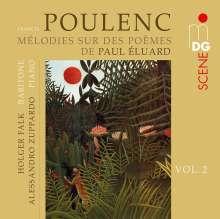 Francis Poulenc (1899-1963): Lieder - Melodies sur des Poemes de Paul Eluard, CD