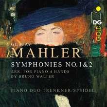 Gustav Mahler (1860-1911): Symphonien Nr.1 & 2 für Klavier 4-händig, 2 SACDs