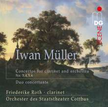 Iwan Müller (1786-1854): Klarinettenkonzerte Nr.3-6, Super Audio CD