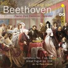 Ludwig van Beethoven (1770-1827): Symphonie Nr.7 (Fassung für Klavier 4-händig von Xaver Scharwenka), SACD