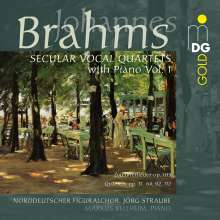 Johannes Brahms (1833-1897): Weltliche Vokal-Quartette mit Klavier Vol.1, Super Audio CD