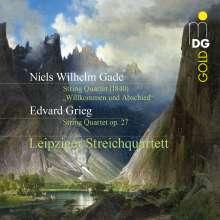 """Niels Wilhelm Gade (1817-1890): Streichquartett F """"Willkommen und Abschied"""", CD"""