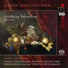 Johann Sebastian Bach (1685-1750): Goldberg-Variationen BWV 988 für 2 Oboen, Violine & Cello, Super Audio CD