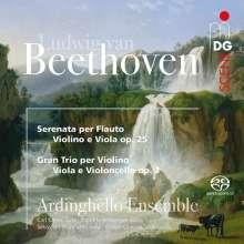 Ludwig van Beethoven (1770-1827): Serenade für Flöte, Violine, Viola op.25, SACD