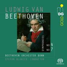 Ludwig van Beethoven (1770-1827): Symphonien Nr.4 & 7, Super Audio CD