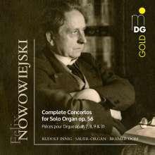 Felix Nowowiejski (1877-1946): Concerti für Orgel op. 56 Nr. 1-4, 2 CDs