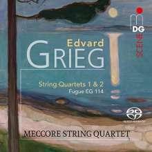 Edvard Grieg (1843-1907): Streichquartette Nr.1 & 2, SACD