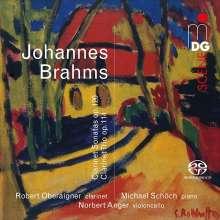 Johannes Brahms (1833-1897): Sonaten für Klarinette & Klavier op.120 Nr.1 & 2, Super Audio CD