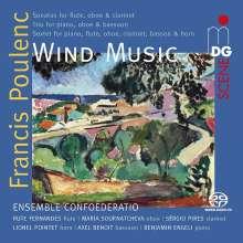 Francis Poulenc (1899-1963): Kammermusik für Bläser, SACD