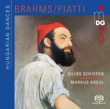 Johannes Brahms (1833-1897): Ungarische Tänze Nr.1-21 (arrangiert für Cello & Klavier von Alfredo Piatti), Super Audio CD