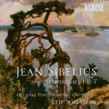 Jean Sibelius (1865-1957): Symphonien Nr.1 & 7, CD