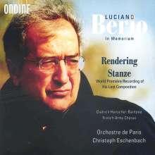 Luciano Berio (1925-2003): Stanze für Bariton, 3 Männerchöre & Orchester, CD